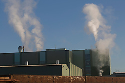 Factory emitting smoke