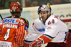 23.02.2010, Stadthalle, Klagenfurt, AUT, EBEL, EC KAC vs EC Red Bull Salzburg, im Bild Markus Pirmann, 4, KAC vs Andre Lakos, 64, RB Salzburg, EXPA Pictures © 2010, PhotoCredit: EXPA/ J. Groder / SPORTIDA PHOTO AGENCY