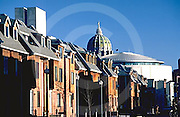 Harrisburg, PA Midtown Skyline, Townhouses and Pennsylvania Capitol