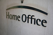 Sign for the Home Office on 5th May 2018 in London, England, United Kingdom. The Home Office is a ministerial department of Her Majestys Government of the United Kingdom, responsible for immigration, security and law and order.
