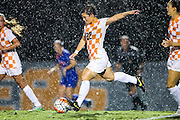 KNOXVILLE,TN - OCTOBER 09, 2015 - Midfielder Katie Cousins #22 of the Tennessee Volunteers  during the game against the Florida Gators and the Tennessee Volunteers at Regal Stadium in Knoxville, TN. Photo By Craig Bisacre/Tennessee Athletics