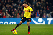 Jose Holebas of Watford in action. Premier League match, Crystal Palace v Watford at Selhurst Park in London on Tuesday 12th December 2017. pic by Steffan Bowen, Andrew Orchard sports photography.