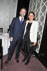 MARCUS & JANE WAREING at a dinner hosted by Marcus Wareing and Johnnie Walker Blue Label in The Private Dining Room, Marcus Wareing at The Berkeley, Wilton Place, London on 7th November 2012.