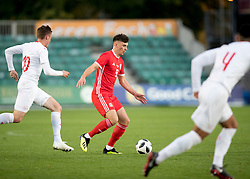 NEWPORT, WALES - Tuesday, October 16, 2018: Wales' Thomas Harris during the UEFA Under-21 Championship Italy 2019 Qualifying Group B match between Wales and Switzerland at Rodney Parade. (Pic by Laura Malkin/Propaganda)