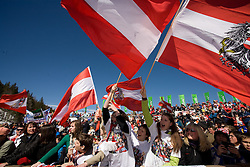 Fans of Austria at Flying Hill Individual in last 4th day of 32nd World Cup Competition of FIS World Cup Ski Jumping Final in Planica, Slovenia, on March 22, 2009. (Photo by Vid Ponikvar / Sportida)