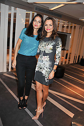 Left to right, YASMIN MILLS and MARIA HATZISTEFANIS at the NIP+FAB Bright Young Things Beauty Workshop Tea Party held at the W Hotel, Wardour Street, London W1 on 24th November 2012.