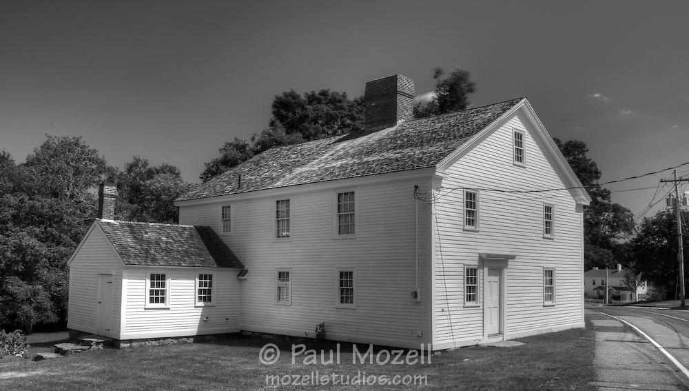 The Rev. Daniel Putnam House built in 1720 stands in North Reading, Massachusetts.