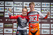 Women and Men Overall Positions #110 (SMULDERS Laura) NED and #313 (KIMMANN Niek) NED for the 2019 UCI BMX Supercross World Cup Series