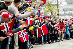 September 20, 2017 - Bergen, NORWAY - 170920 Andreas Vangstad of Norway competes during the Men Elite Individual Time Trial on September 20, 2017 in Bergen..Photo: Vegard Wivestad GrÂ¿tt / BILDBYRN / kod VG / 170018 (Credit Image: © Vegard Wivestad Gr¯Tt/Bildbyran via ZUMA Wire)