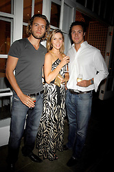 Left to right, GREG COX, BECKY HANSON and JAMES NEWSON at a Summer BBQ for Kitts nightclub hosted by Chalie Gilkes and Duncan Stirling at the Hurlingham Club, London on 31st August 2007.<br /><br />NON EXCLUSIVE - WORLD RIGHTS