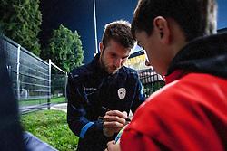 Bostjan Cesar after the FIFA World Cup 2014 Group E qualification match between Slovenia and Norway on October 11, 2013 in Stadium Ljudski vrt, Maribor, Slovenia. (Photo by Urban Urbanc / Sportida)