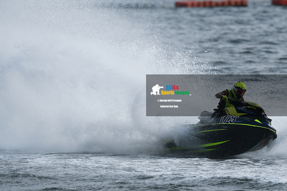 PATTAYA, THAILAND - DECEMBER 09: Permphon Teerapatpanich (T79) of Thailand and Pusan Nakonpathom Jet Ski Team in action during the Pro Runabout GP Moto4 at the Thai Airways International Jet Ski World Cup 2018, Jomtien Beach, Pattaya, Thailand on December 09, 2018. <br /> .<br /> .<br /> .<br /> (Photo by: Naratip Golf Srisupab/SEALs Sports Images)<br /> .<br /> Any image use must include a mandatory credit line adjacent to the content which should read: Naratip Golf Srisupab/SEALs Sports Images