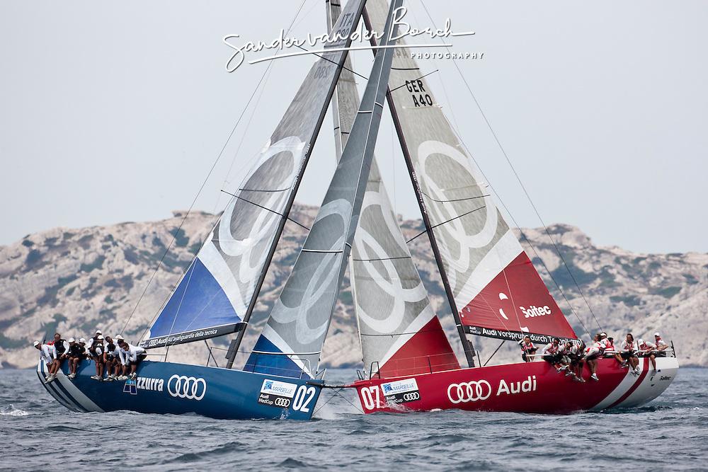 Audi Sailing Team powered by ALL4ONE, AUDI MedCup Marseille, France, Marseille Trophy, (14-19 June 2011) © Sander van der Borch / Sea&Co