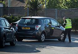 © Licensed to London News Pictures. 02/05/2020. London, UK. Cars queue to enter a COVID-19 test facility at IKEA Wembley in London. According to government, the UK provided more than 122,000 coronavirus tests on the last day of April. Photo credit: Ben Cawthra/LNP
