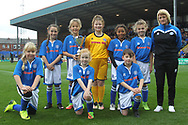 Rochdale Under 10 girls at half-time during the EFL Sky Bet League 1 match between Rochdale and Gillingham at Spotland, Rochdale, England on 23 September 2017. Photo by Daniel Youngs.