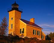 Copper Harbor Lighthouse built in 1866, Fort Wilkins State Park, Keweenaw Peninsula, Upper Peninsula of Michigan.
