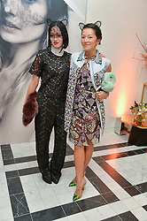 Left to right, Tiffany Hsu from Selfridges and Tina Leung blogger at a dinner to celebrate the exclusive Capsule collection: Maison Michel by Karl Lagerfeld held at Selfridges, 400 Oxford Street, London on 23rd February 2015.