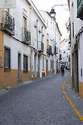 a narrow street evora alentejo portugal