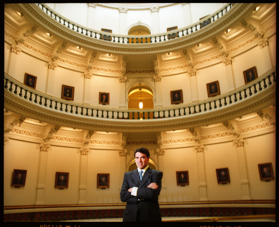 Rick Perry, governor of Texas. Photographed at the state Capitol building in Austin, Texas on June 14 2005. Photograph © 2005 Darren Carroll