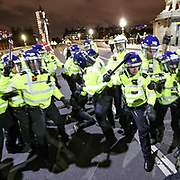 Police scuffle with a group of protestors over a person they attempt to arrest in Westminster Bridge, central London on Sunday, Jun 7, 2020, during a rally, to protest against the killing of George Floyd by police officers in Minneapolis, USA. Floyd, a black man, died after he was restrained by Minneapolis police while in custody on May 25 in Minnesota. (Photo/ Vudi Xhymshiti)