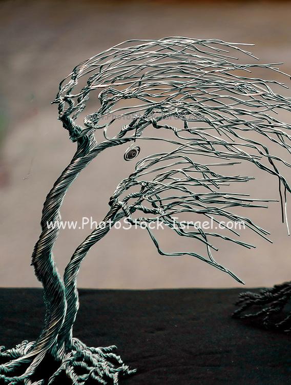 Metal tree artwork