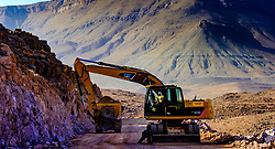 Road building in the Atlas Mountains, Morocco<br /> <br /> (c) Andrew Wilson   Edinburgh Elite media