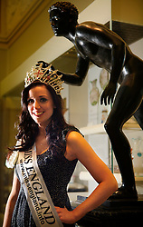 UK ENGLAND PRESTON 10FEB10 - Miss England, Katrina Hodge (22) during a photo shoot at the Harris Museum & Art Gallery in Preston city centre, Lancashire. Katrina Hodge is on a week-long tour to promote the beauty pageant and careers at the armed forces in northern England...jre/Photo by Jiri Rezac..© Jiri Rezac 2010