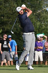 September 4, 2017 - Norton, Massachusetts, United States - Marc Leishman tees off the 17th hole during the final round of the Dell Technologies Championship at TPC Boston. (Credit Image: © Debby Wong via ZUMA Wire)