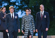 SOMME - FRANCE- 30th June 2016: The 100th anniversary of the Battle of The Somme in northern France. <br /> <br /> Members of the Royal Family including The Duke and Duchess of Cambridge, and Prince Harry attend a  vigil service held at the Thiepval  Somme Memorial to mark the 100th Anniversary of the Battle of the Somme which started on the 1st July 1916.<br /> ©Exclusivepix Media