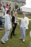 Marc Newson; lady Emily Compton; Jonathan Ive, The Cartier Style et Luxe Concours lunch at the Goodwood Festival of Speed. July 13, 2008  *** Local Caption *** -DO NOT ARCHIVE-© Copyright Photograph by Dafydd Jones. 248 Clapham Rd. London SW9 0PZ. Tel 0207 820 0771. www.dafjones.com.