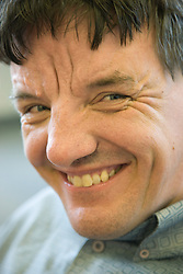 Portrait of man Day Service user with learning disability,