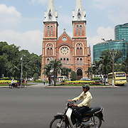 The Notre Dame Cathedral, Ho Chi Minh City, Vietnam. 3rd March 2012. Photo Tim Clayton