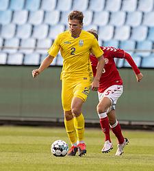 Illia Zabarnyi (Ukraine) under U21 EM2021 Kvalifikationskampen mellem Danmark og Ukraine den 4. september 2020 på Aalborg Stadion (Foto: Claus Birch).