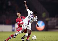 Fotball<br /> Frankrike 2004/05<br /> Lyon v Paris Saint Germain<br /> 17. april 2005<br /> Foto: Digitalsport<br /> NORWAY ONLY<br /> MAHAMADOU DIARRA (LYON) / EDOUARD CISSE (PSG)