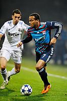 FOOTBALL - CHAMPIONS LEAGUE 2010/2011 - 1/8 FINAL - 1ST LEG - OLYMPIQUE LYONNAIS v REAL MADRID - 22/02/2011 - PHOTO GUY JEFFROY / DPPI - JIMMMY BRIAND (LYON)