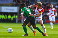 James Coppinger of Doncaster Rovers (26) and Brandon Mason of Coventry City (3) in action during the EFL Sky Bet League 1 match between Doncaster Rovers and Coventry City at the Keepmoat Stadium, Doncaster, England on 4 May 2019.