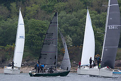 Day 2 Scottish Series, SAILING, Scotland.<br /> <br /> Class 3 Fleet, Start,  Lady Ex, Extrovert 22, GBR6305C<br /> <br /> The Scottish Series, hosted by the Clyde Cruising Club is an annual series of races for sailing yachts held each spring. Normally held in Loch Fyne the event moved to three Clyde locations due to current restrictions. <br /> <br /> Light winds did not deter the racing taking place at East Patch, Inverkip and off Largs over the bank holiday weekend 28-30 May. <br /> <br /> Image Credit : Marc Turner / CCC