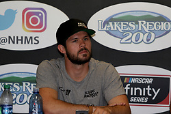 July 20, 2018 - Loudon, NH, U.S. - LOUDON, NH - JULY 20: Ryan Truex, driver of the #11 Phantom Fireworks Chevy during a press conference for the Overton's 200 Xfinity Series race on July 20, 2018, at New Hampshire Motor Speedway in Loudon, NH. (Photo by Malcolm Hope/Icon Sportswire) (Credit Image: © Malcolm Hope/Icon SMI via ZUMA Press)