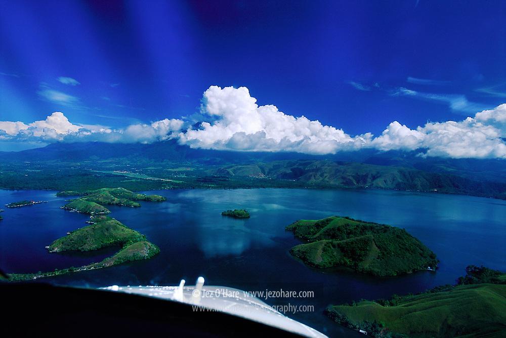 Sentani lake & airport, Jayapura, Papua, Indonesia.