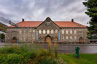 Hovedbiblioteket til Bergen Offentlige Bibliotek er en nyromantisk bygning i stein som ble oppført i 1917.