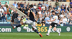 Derby County's David Nugent scores his side's first goal of the game