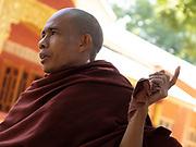 Deputy Head Monk, U Thila Sara lecturing at the Kyan Sit Thar Monastery, Bagan Myanmar