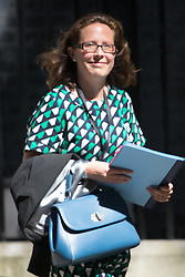 Downing Street, London, July 19th 2016. Lord Privy Seal and Leader of the House of Lords Baroness Natalie Evans  leaves the first full cabinet meeting since Prime Minister Theresa May took office.