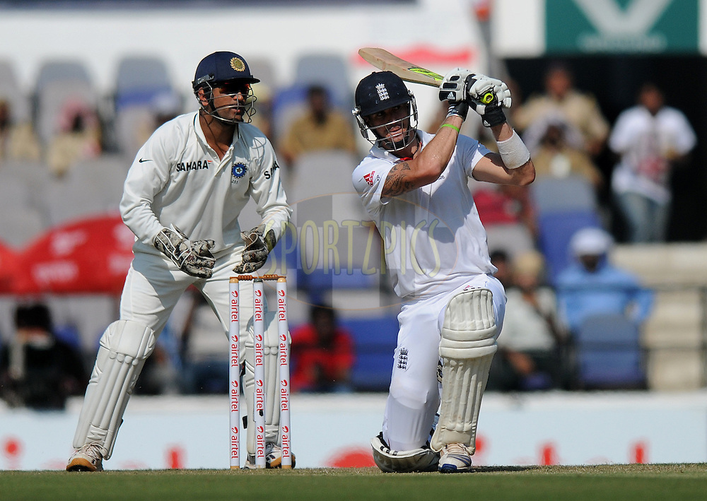 Kevin Pietersen of England bats during day one of the 4th Airtel Test Match between India and England held at VCA ground in Nagpur on the 13th December 2012..Photo by  Pal Pillai/BCCI/SPORTZPICS .
