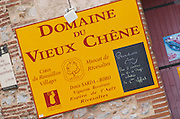 Wine shop. Domaine du Vieux Chene. Rivesaltes town, Roussillon, France