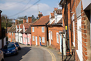 Terraced cottages Angel Lane, Woodbridge, Suffolk