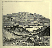 Entrance to Wady Gharandel Wood engraving of from 'Picturesque Palestine, Sinai and Egypt' by Wilson, Charles William, Sir, 1836-1905; Lane-Poole, Stanley, 1854-1931 Volume 4. Published in 1884 by J. S. Virtue and Co, London