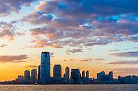 Skyline, Jersey City, New Jersey USA.