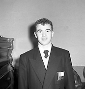 Boxers Leave for Olympics in Melbourne..Freddie Gibney (St John Bosco Boxing Club, Belfast) Bantamweight Boxer Leaves for Melbourne.26/11/1956