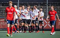 AMSTELVEEN -  Amsterdam heeft 1-0 gescoord  tijdens de hockey hoofdklasse competitiewedstrijd  heren, Amsterdam-HC Tilburg (3-0).  COPYRIGHT KOEN SUYK